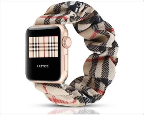 WONMILLE Scrunchie Elasti Bracelet band for Apple Watch