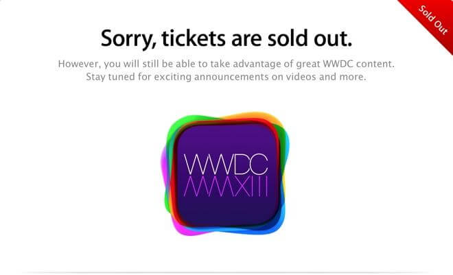 WWDC in 2008, Tickets Sold Out