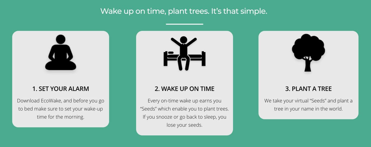 Wake Up on Time and Plant Trees with EcoWake iOS App