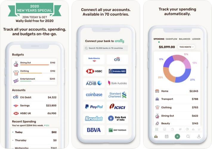 Wally Expense Tracker iPhone and iPad App Screenshot
