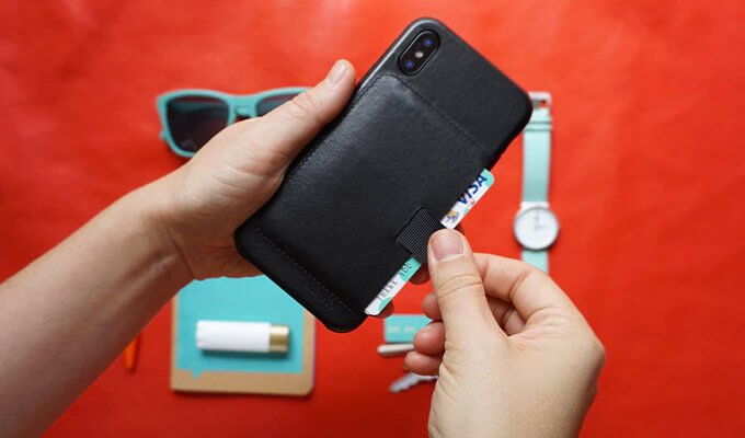 Wally Leather Wallet Case for iPhone X