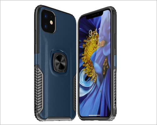 Watache Finger Ring Grip Kickstand Case for iPhone 11 Pro Max
