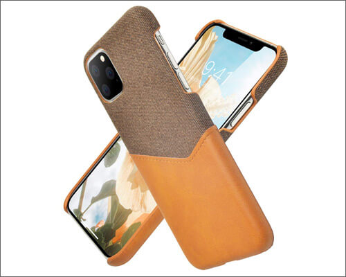 Watache iPhone 11 Pro Max Fabric Executive Case with Card Holder