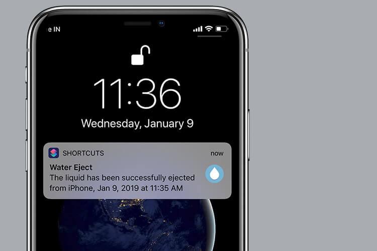 Water Eject Siri Shortcut
