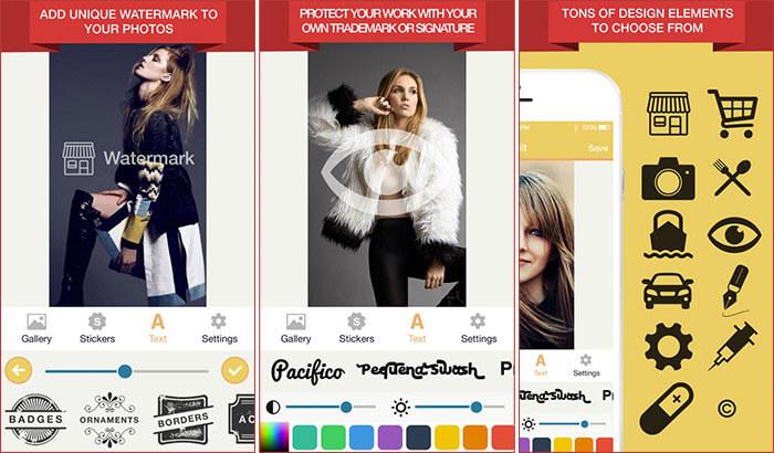 Watermark Photo iPhone and iPad App Screenshot