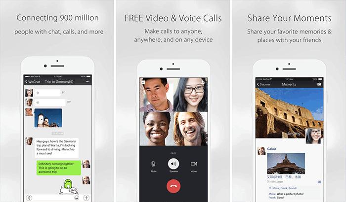 WeChat FaceTime Alternative iPhone App Screenshot