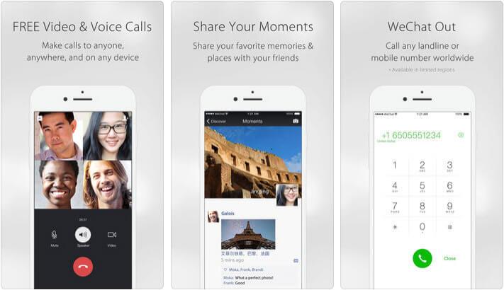WeChat iPhone and iPad App Screenshot