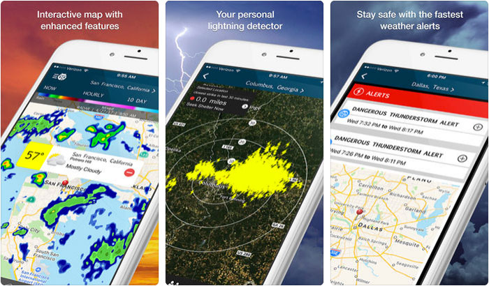 WeatherBug iPhone and iPad App Screenshot