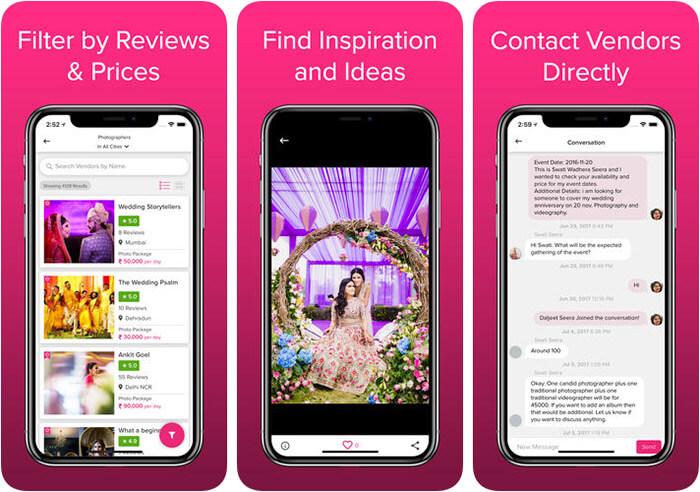 WedMeGood Wedding Planner iPhone and iPad App Screenshot