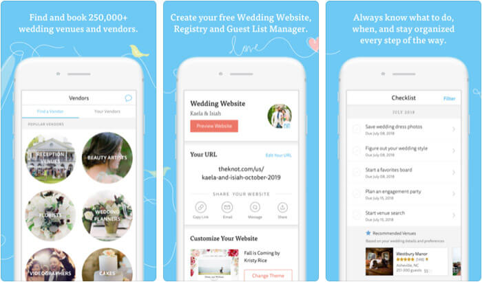 Wedding Planner by The Knot iPhone and iPad App Screenshot