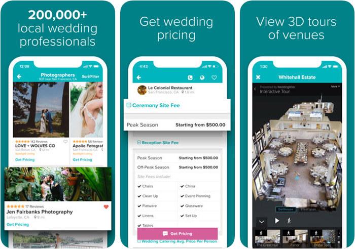 WeddingWire iPhone App Screenshot