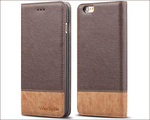 WenBelle Flip Case for iPhone 6-6s Plus