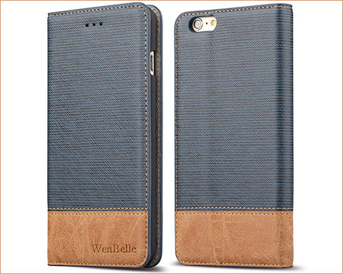 WenBelle Folio Case for iPhone 6-6s