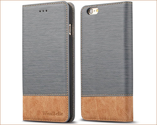 WenBelle iPhone 6-6s Leather Wallet Case