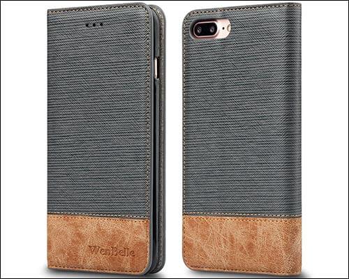 WenBelle iPhone 8 Plus Folio Case