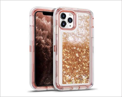 Wesadn iPhone 11 Pro Max Heavy Duty Clear Case for Women