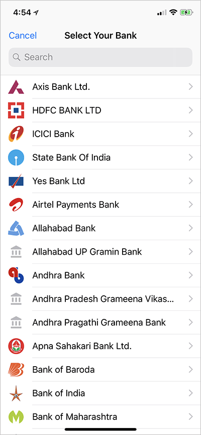 WhatsApp Payment Supported Banks India