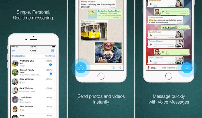 WhatsApp Social Media iPhone and iPad App Screenshot