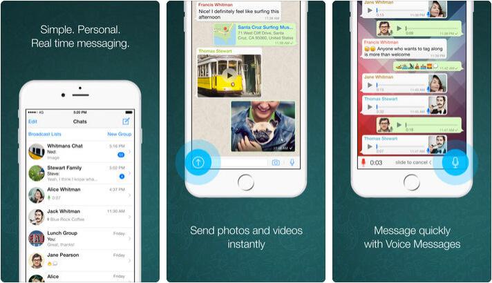 WhatsApp iPhone App Screenshot