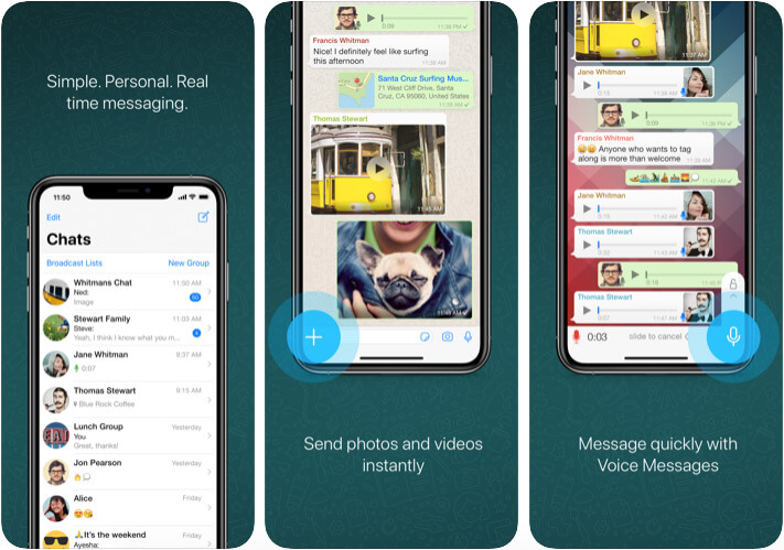 WhatsApp iPhone and iPad App Screenshot