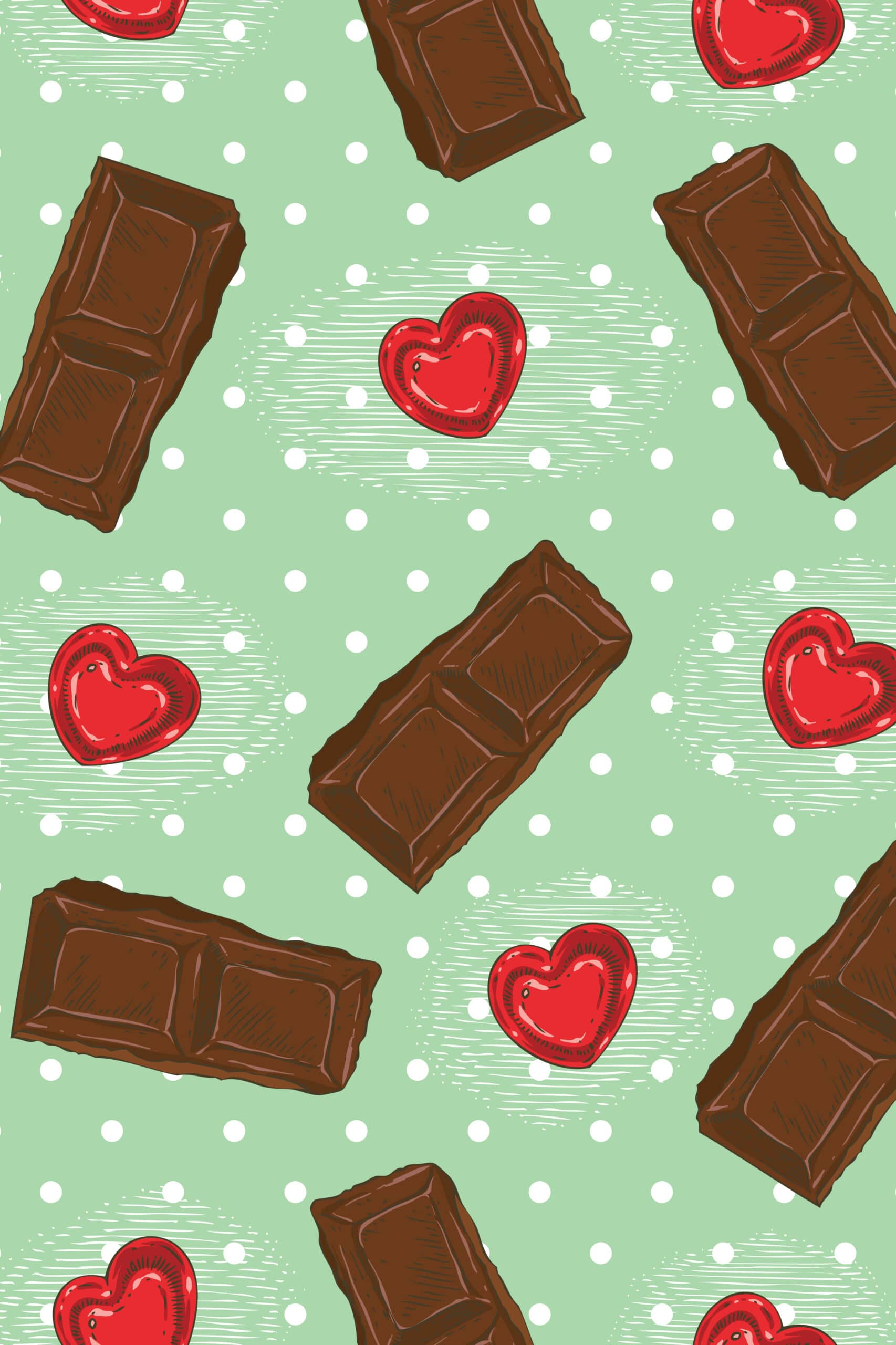 When Chocolate is Bae Valentine's Day iPhone wallpaper