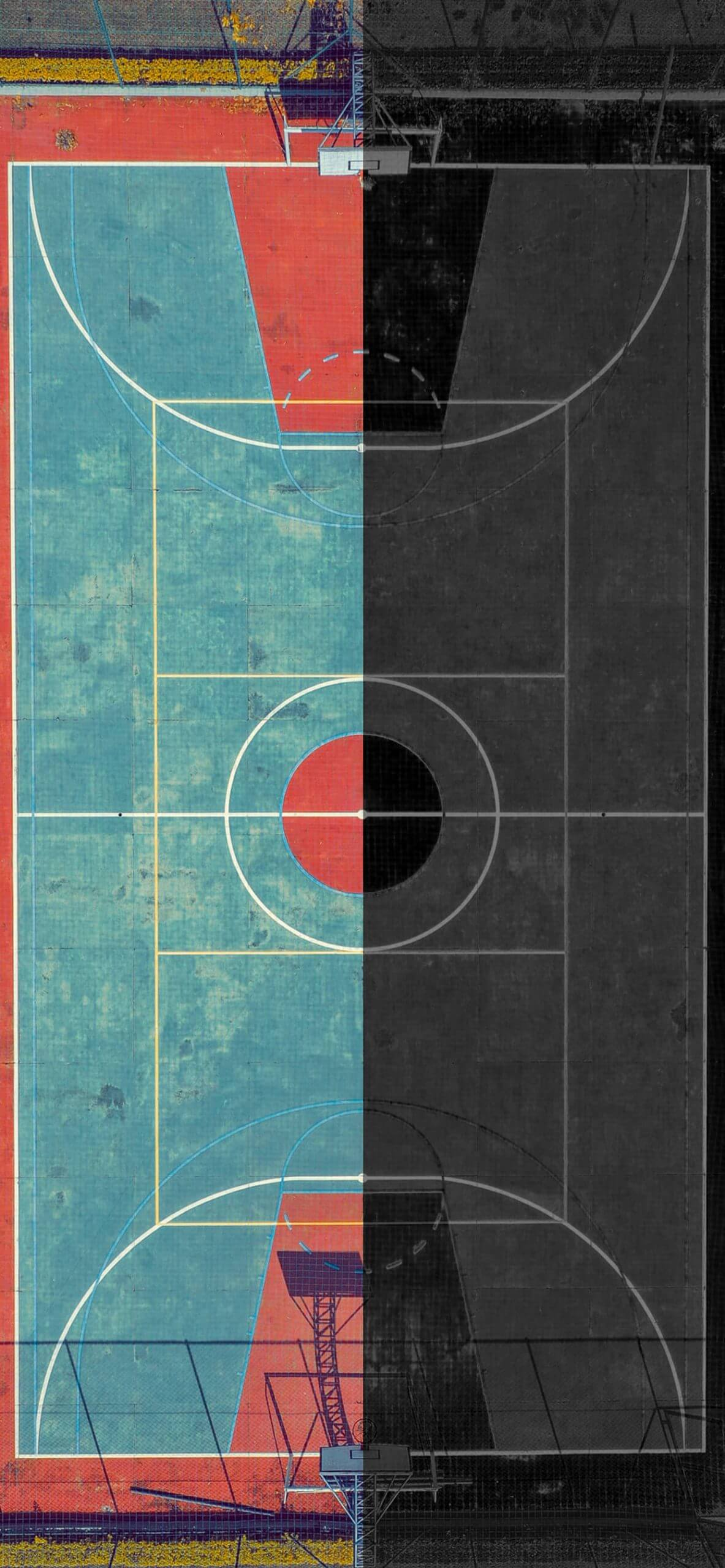 which half of the court iphone wallpaper by igeeksblog