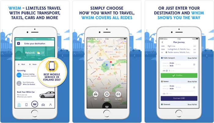Whim Travel smarter iPhone App Screenshot