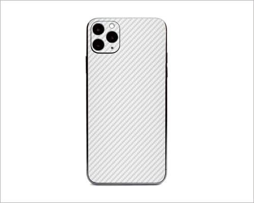 White Carbon Fiber iPhone 11 Pro Skins Wrap