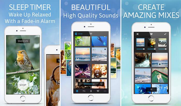White Noise Sleep Pillow Sound iPhone and iPad App Screenshot