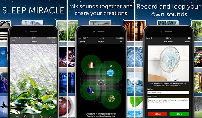 White Noise iPhone and iPad Sleeping App Screenshot