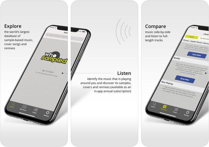 WhoSampled iPhone and iPad Hip-Hop App Screenshot