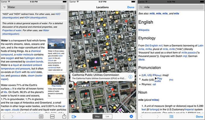 Wikipanion iPhone and iPad App Screenshot