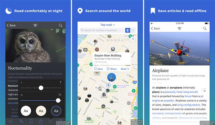 Wikipedia iPhone and iPad App Screenshot