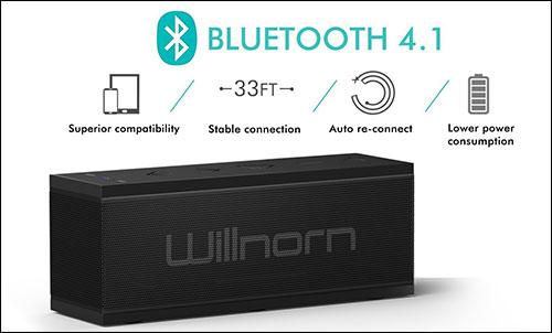 Willnorn Bluetooth Speaker Connectivity Options