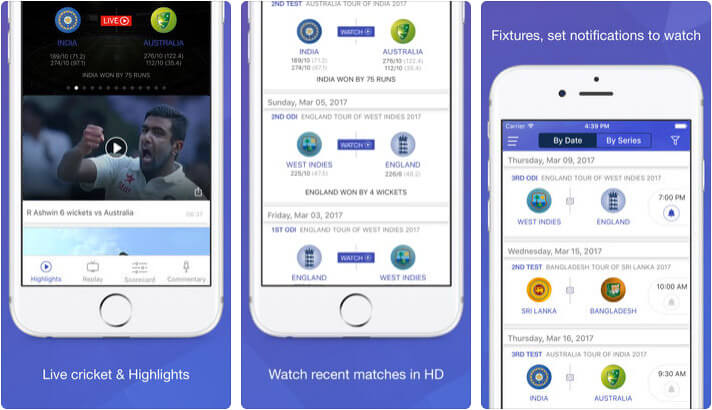 Willow Live Cricket Streaming iPhone and iPad App Screenshot