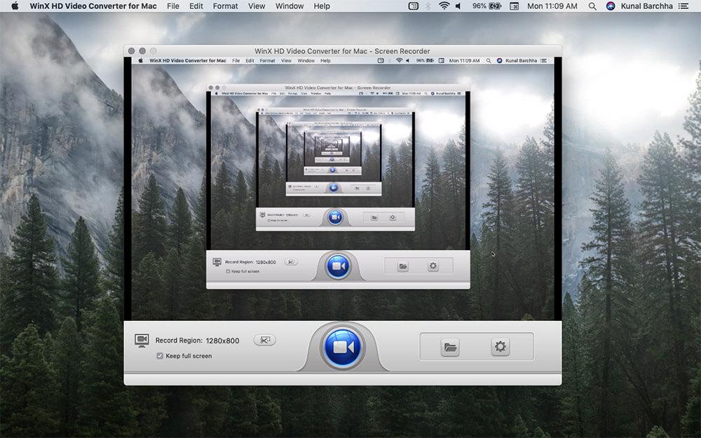 WinX HD Video Converter Deluxe In-build Screen Recorder