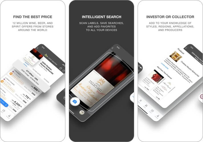 Wine Searcher best wine apps for iPhone screenshot