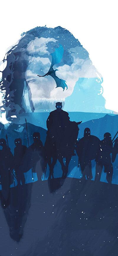Winter is here iPhone Game of Thrones Wallpaper