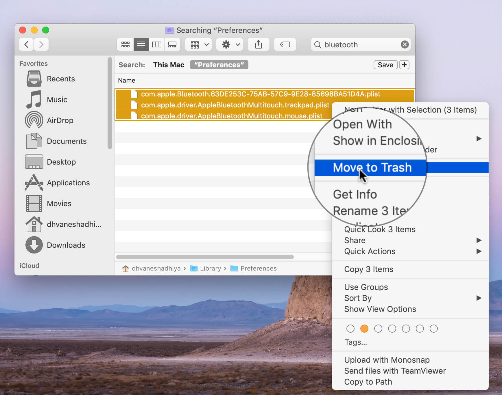 Wipe Out All The Bluetooth Files on Mac