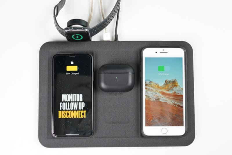 Wirelessly Charge up to 4 Devices with Mophie Charging Mat