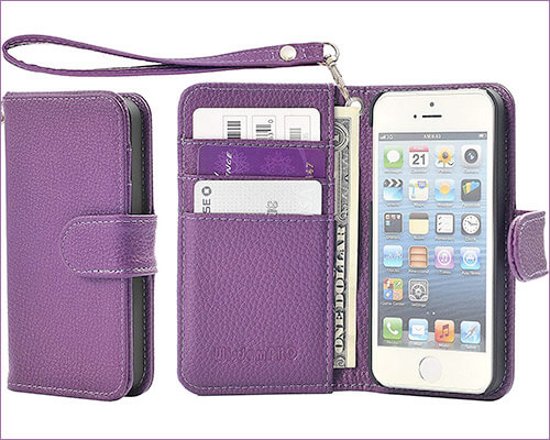 Wisdompro iPhone SE, 5s, and iPhone 5 Wallet Case