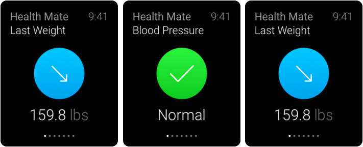 Withings Health Mate Apple Watch Fitness App Screenshot
