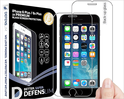 Witkeen Glass Screen Protector for iPhone 6s Plus