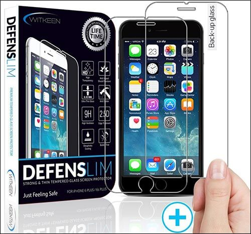Witkeen HD iPhone 6s Plus Screen Protector