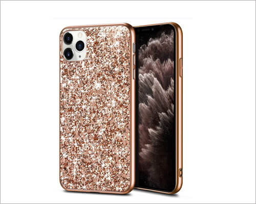 Wollony iPhone 11 Pro Max Glitter Sparkle Case for Women