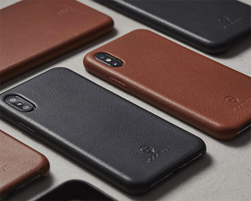 Woolnut iPhone X-Xs Leather Case