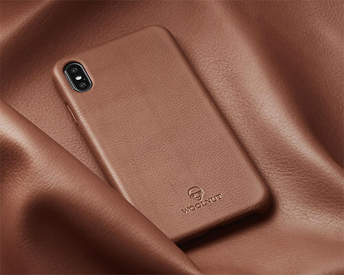 Woolnut iPhone Xs Max Leather Case