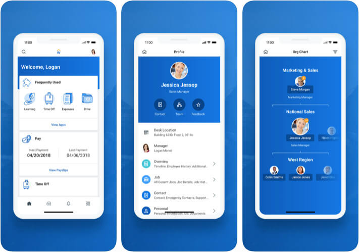 Workday HR Management iPhone and iPad App Screenshot