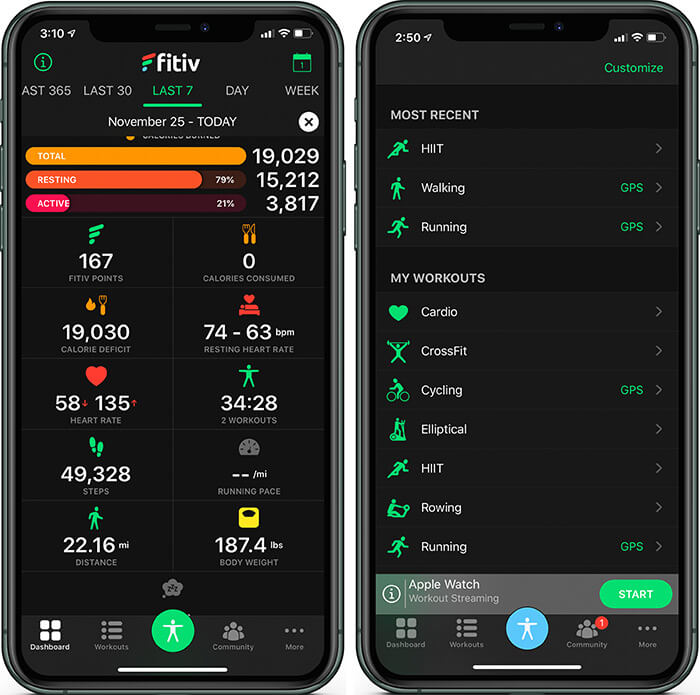 Workout Customization on FITIV Fitness Tracking App