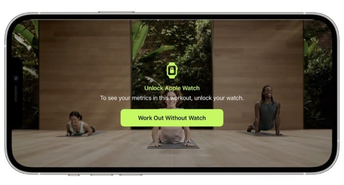 Workout without Apple Watch